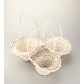 Корзины белые шляпные 3 шт