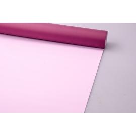 Пленка матовая 0.7 × 10 м. марсала + розовый