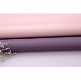 Пленка матовая двусторонняя 60 × 60 см. P.OY 231 туман виола + розовый