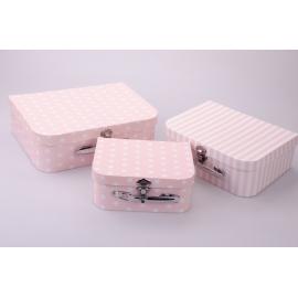 Suitcases in peas 3 pcs. lilacs