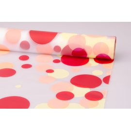 "Matte film 0.7 × 10 m. ""Bubbles"" red + Orange"