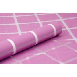 "The film ""Squares"" (lilac) is matte in a roll"