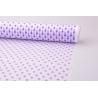 Пленка матовая 0.7 × 10 м. « Горошек » Фиолетовый