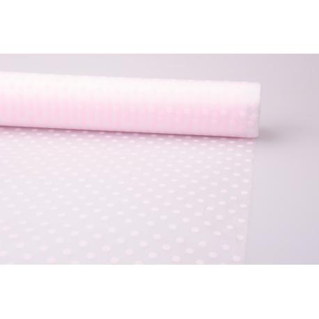 Плівка матова 0.7 × 10 м. « Горошини » рожевий