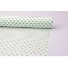 Плівка матова 0.7 × 10 м. « Горошини » Зелений