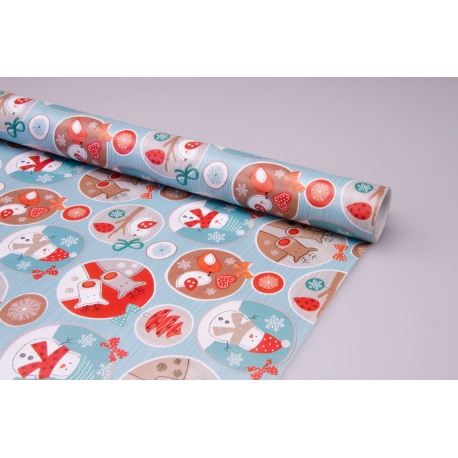 "Coated paper 0.7 x 10 yd.""New Year stickers"""