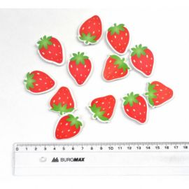Strawberry with a sticker 5559