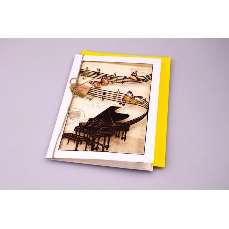 """Листівка з конвертом """"Ретро"""" 11.5*17 см WISH1511"""