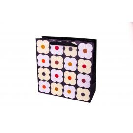 """Пакет картонний 25x25x10 см """"Квіти великі"""""""