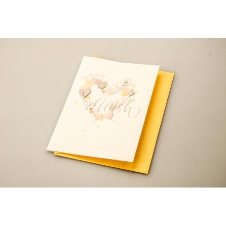 "Postcard with envelope ""Peach"" 9.5*14 сm MINI1822"