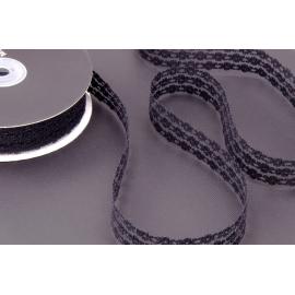 Лента кружево 2.5 см Черная