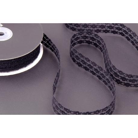 Tie Lace 2.5 cm Black