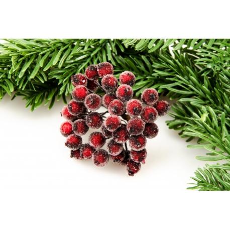 Berries in sugar in the beam wine