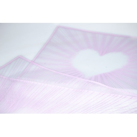 """The film is matte """"Striped Hearts"""" 60 × 60 cm 031 Lilac"""