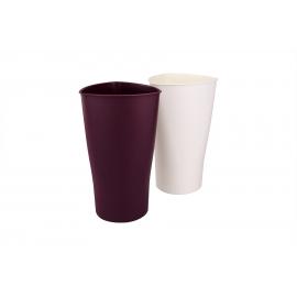 Пластикова ваза для квітів 34 см коричнева