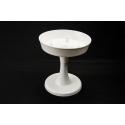 Plastic bowl on the leg White 13x14cm OASIS®