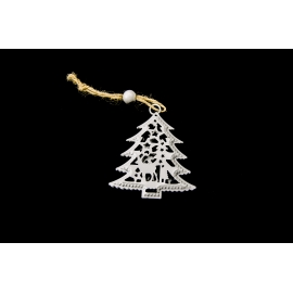 "Suspension metalic ""New Year tree"" 8cm"