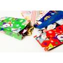 Пакеты бумажные без ручек в пачке 50шт 10 см × 22 см × 4,5 см новогодний в ассортименте