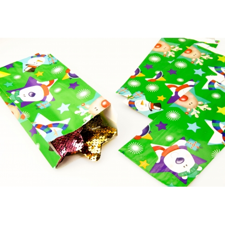 Package made of paper without pens 10 cm × 22 cm × 4.5 cm Christmas in stock