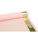 Matte film 0.6 * 10 m Velvet Gold with gold border Pink
