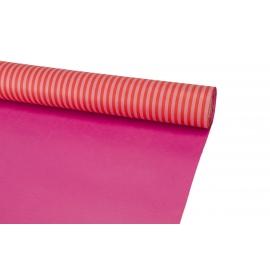 Папір цупкий в смужку Червоний+Малина 6023