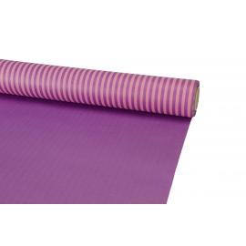 Папір цупкий в смужку Рожевий + Фіолет 5052