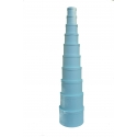 Set of round boxes of 10 pieces blue