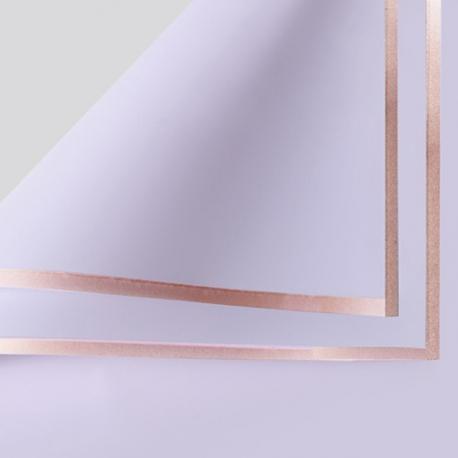 Плівка матова в листах P.GDM 031 Lilac із золотою каймою
