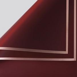 Плівка матова в листах P.GDM 011 Wine із золотою каймою