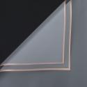 Пленка матовая в листах P.GDM 110 Transparent с золотой каймой