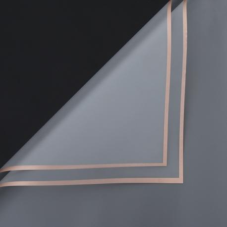 Пленка матовая в письмах P.GDM 110 Transparent с золотой каймой