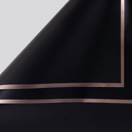 Плівка матова в листах P.GDM 171 Black із золотою каймою