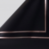 The film is matt in sheets of P.GDM 171 Black with a gold border