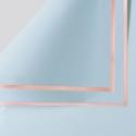 Пленка матовая в листах P.GDM 135 Lt Blue с золотой каймой