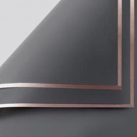 Плівка матова в листах P.GDM 121 Charcoal із золотою каймою