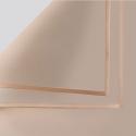 Пленка матовая в листах P.GDM 155 Milky Tea с золотой каймой