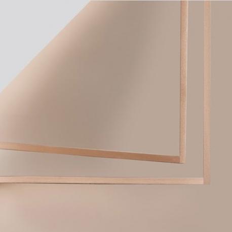 Пленка матовая в письмах P.GDM 155 Milky Tea с золотой каймой