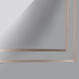 Пленка матовая в письмах P.GDM 124 Grey с золотой каймой
