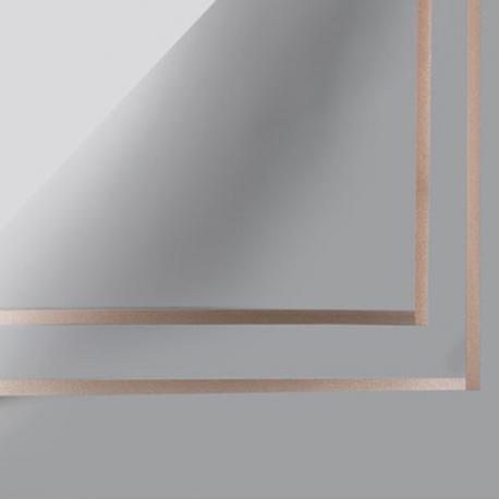 Плівка матова в листах P.GDM 124 Grey із золотою каймою
