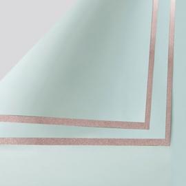 Плівка матова в листах P.GDM 085 Pastel Green із золотою каймою
