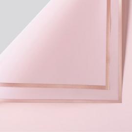 Пленка матовая в письмах P.GDM 161 Hot Pink с золотой каймой