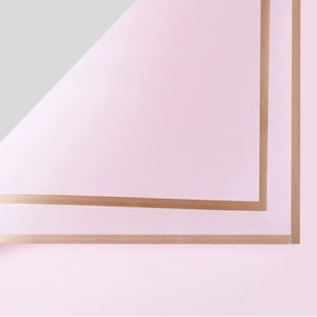 Пленка матовая в письмах P.GDM 165 Light Pink с золотой каймой