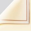 Пленка матовая в листах P.GDM 243 Beige с золотой каймой
