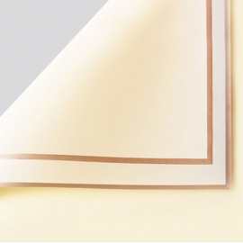 The film is opaque in sheets P.GDM 243 Beige with a gold border