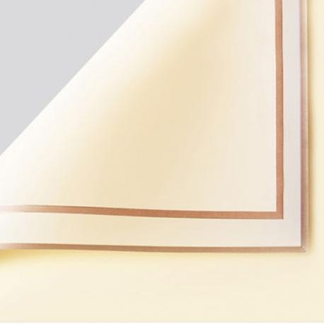 Плівка матова в листах P.GDM 243 Beige із золотою каймою