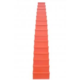 Набір прямокутних коробок з 15 шт Помаранчеві 905-434