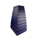 Набор прямоугольных низких коробок с 10 шт Синие 607-1291