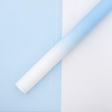 Плівка матова омбре 60 × 60 см. Голубий