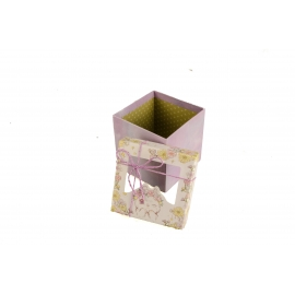 Gift box with transparent window purple