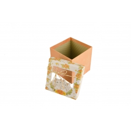 Gift box with transparent window orange